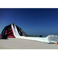 Wholesale 75m Long Outside Giant Inflatable Slide PVC Red White With Bolwer from china suppliers