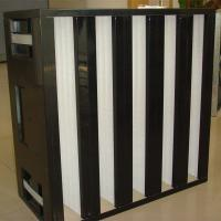 Wholesale High efficiency ventilation system plastic frame V bank air filter from china suppliers
