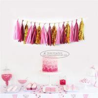 China Mixcolor Tassel Garland Paper Garland Christmas Birthday Party Decorations for sale