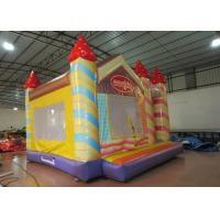 Wholesale Waterproof Funny Inflatable Jump House 5 X 5m , Kids Bounce House Silk Printing from china suppliers
