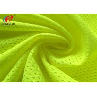 Wholesale 100% Polyester Fluorescent Mesh Fabric Safety Vest Fabric For Traffic Police Uniform Vest from china suppliers