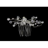 Succinct simple style Crystal Bridal Jewelry hair comb with silver plated S11080 for sale