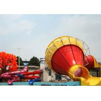 Wholesale Large Swimming Pool Water Slides , Outdoor Commercial Fiberglass Funnel Water Slide from china suppliers