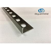Wholesale 6063-T5 Aluminum Round Floor Strip Aluminium Edging Strip With Hole Punched from china suppliers