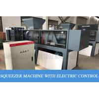 Film Squeezing Dryer HDPE Recycling Machine With Granulator Screw Press Extruder for sale