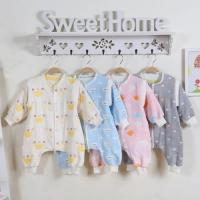Wholesale Lightweight Quilt Cotton Baby Clothes Super Soft Muslin Cotton Baby Sleeping Suit from china suppliers