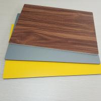 Wholesale Circular Cladding Wood Grain Aluminum Composite Panel Embossed Surface Density 2.5% from china suppliers