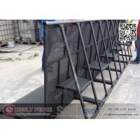 Wholesale Black Color Aluminium Stage Barrier   Powder Coated Concert Barrier   Mojo Stage Barrier from china suppliers