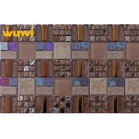 Wholesale Home Decorative 300 × 300mm Thinness Glass And Metal Wall Tiles , TUV from china suppliers