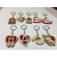 Buy cheap wholesale wood keychain school gift wood craft key chain tag from wholesalers