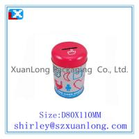 Quality round Tin Coin Bank for sale