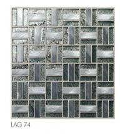 fireplace backsplash tile aluminum mix glass mosaic tile