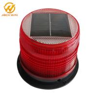 China Magnetic Bottom Red Traffic Warning Lights , LED Solar Emergency Warning Light on sale