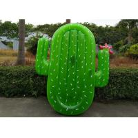 China Large Green Cactus Inflatable Pool Float Lounger For Adult And Children on sale