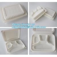 Wholesale blister packaging Packaging Tray, airline fast food trays with handle, cornstarch food trays from china suppliers