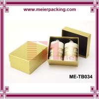 Wholesale Two piece lips golden paper candle box/frangrance candle packaging paper box ME-TB034 from china suppliers