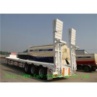 Buy cheap Tri - Axle 60 Ton Low Flatbed Semi Trailer / Low Bed Truck Trailer For Excavator from wholesalers