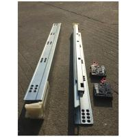 China Bottom Mounted Undermount Soft Close Drawer Slides Auto Closing for sale