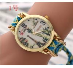 Buy cheap Handmade Braided Friendship Bracelet Watch New Geneva Watches Ladies Quartz from wholesalers