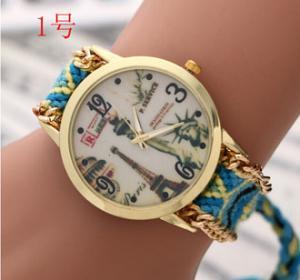 Buy cheap Handmade Braided Friendship Bracelet Watch New Geneva Watches Ladies Quartz Watch Women Dress Watches relogio feminino from wholesalers