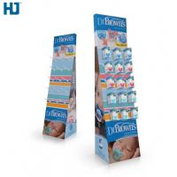 Wholesale CMYK Color Cardboard Display Shelves Customized Hooks Retail display  Baby Products cardboard display stand from china suppliers