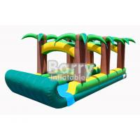 Wholesale Commercial Double Lane Jungle Inflatable Blow Up Water Slides 0.55mm PVC Tarpaulin from china suppliers