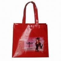 Wholesale Ladies Fashion Nonwoven Shopping Bag with Glossy Lamination/Tectorial and Silkscreen Printing from china suppliers