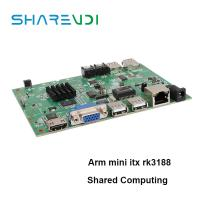 China Reliable company X6 motherboard arm mini itx with A9 rk3188 1g ram 8g flash on sale