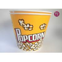 Wholesale 180oz Volume 4850ml Disposable Flexo Print Paper Popcorn Bucket With Paper Lid from china suppliers