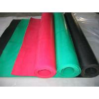China gum rubber sheet, natural rubber sheet with beige, red, black on sale