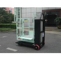 Quality Mast Type Semi - Electric Aerial Order Picker Manual Push Around For One Person for sale