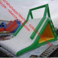 Wholesale Big Inflatable Water Toys , Beach Water Slide With Fun amusement park water slide from china suppliers