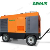 China Diesel Driven Engine Portable Air Compressor For Mining on sale