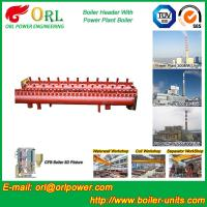 Quality Longitudinal Oil Fired Boiler Header Manifold Once Through For Power Plant for sale