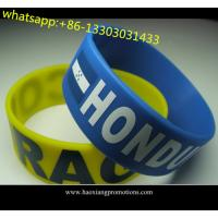 Wholesale Charm bracelet promotion custom silicone wristband /silicon bracelet from china suppliers