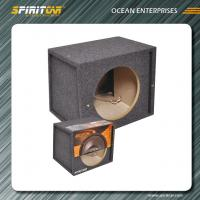 """Wholesale Fashionable Custom CARB MDF 12"""" 15CM Car Speaker Enclosures black / grey from china suppliers"""