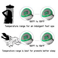 Wholesale JK-2600 LED Thermometer Handheld Shower Heads Water Powered Light to Display Fahrenheit for Skin Health, Child and Pet from china suppliers