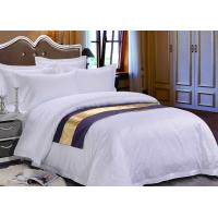 Wholesale Pure White Sateen Otel Duvet Bedding With Purple Bed Runner from china suppliers