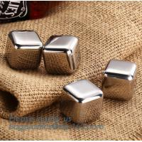 Wholesale best chilling ice cubes for whiskey stainless steel whiskey stones with FDA, real dice ice cube whisky wine stone stainl from china suppliers