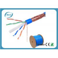 Wholesale STP Cable Ethernet Cat 6 8 Conductor Solid Bare Copper 23 AWG 550mHz PVC Jacket 1000'' Feet from china suppliers