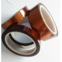 China Amber Color Kapton Polyimide Tape Class H Insulation Feature For Electrical Coils on sale