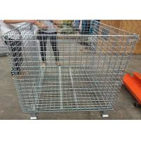 Buy cheap Foldable Galvanized Welded Metal Basket Wire Storage Cage For Warehouse from wholesalers