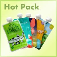 China Eco Friendly Disposable Baby Food Stand Up Pouch With Spout Food Grade Leak Proof on sale