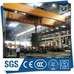 China High quality foundry double beam bridge crane 75/20t crane with hook on sale