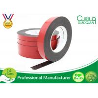 Quality Black PE Foam Coated Double Side Tape With Solvent Acrylic Adhesive 0.8mm / 1mm for sale