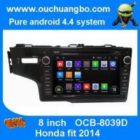 Wholesale Ouchuangbo Car Stereo DVD radio for Honda Fit 2014 Android 4.4 GPS Sat Nav 3G Wifi Blueto from china suppliers