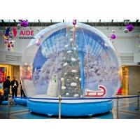 Wholesale PVC cloth Airblown Snow Globe Inflatable Holiday Decor with Santa Tree print from china suppliers