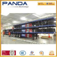 Buy cheap PANDA high quality 40ft flat bed semi trailer, 40T fla deck trailer with twist lock for sale from wholesalers