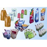 Quality Laminated Spouted Pouches Packaging Poly Bags for Soybean Milk for sale