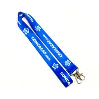 Wholesale Dye Sublimation Flat Polyester Lanyard Heat Transferred Process Double Metal Hooks from china suppliers